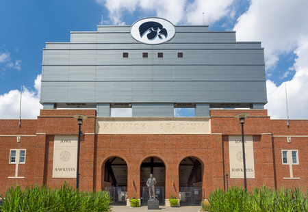university campus: IOWA CITY, IAUSA - AUGUST 7, 2015: Kinnick Stadium at the University of Iowa. The University of Iowa is a flagship public research university. Editorial