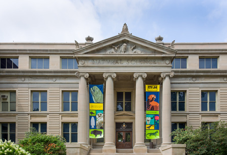 IOWA CITY, IAUSA - AUGUST 7, 2015: Natural Sciences building at the University of Iowa. The University of Iowa is a flagship public research university.