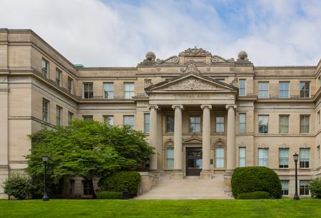 IOWA CITY, IAUSA - AUGUST 7, 2015: Liberal Arts building at the University of Iowa. The University of Iowa is a flagship public research university. Editöryel