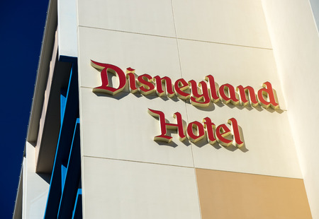 disneyland: ANAHEIM, CAUSA - OCTOBER 10, 2015: Disneyland Hotel exterior. The Disneyland Hotel is a resort hotel located at the Disneyland Resort.