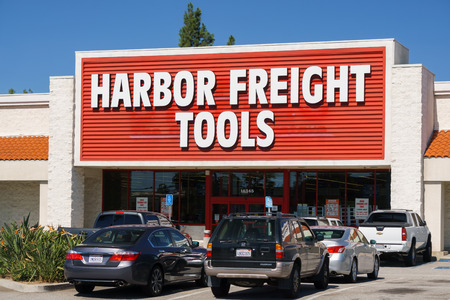 mail order: BUENA PARK, CAUSA - OCTOBER 10, 2015: Harbor Freight Tools retail store. Harbor Freight Tools is a privately held discount tool and equipment retail and mail order company.