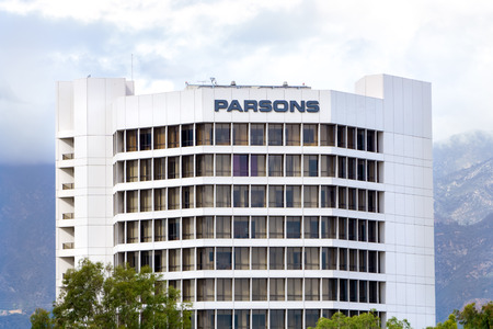 defense facilities: PASADENA, CAUSA - OCTOBER 4, 2015: Parsons Corporation corporate Headquarters. Parsons is an engineering, construction, technical, and management services firm.