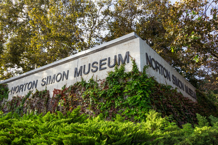 PASADENA, CAUSA - OCTOBER 14, 2015: Norton Simon Museum exterior. The Norton Simon Museum is an art museum.
