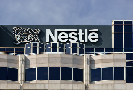pharmaceutical company: GLENDALE, CAUSA - OCTOBER 24, 2105: Nestle USA headquarters. Nestle is a Swiss transnational food and beverage company and ranked on the Fortune Global 500.