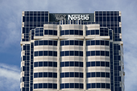 transnational: GLENDALE, CAUSA - OCTOBER 24, 2105: Nestle USA headquarters. Nestle is a Swiss transnational food and beverage company and ranked on the Fortune Global 500.