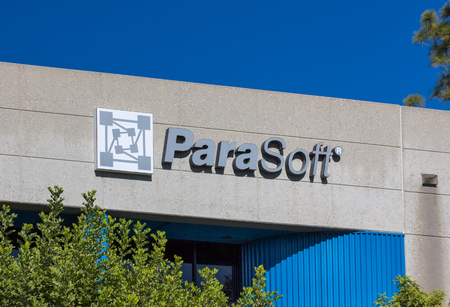 middleware: MONROVIA, CAUSA - NOVEMBER 22, 2015: ParaSoft headquarters exterior and logo. Parasoftis an independent computer software vendor.