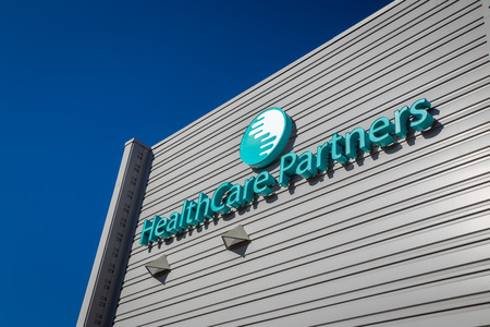 payer: LOS ANGELES, CAUSA - NOVEMBER 22, 2015: HealthCare Partners exterior and logo. HealthCare Partners manages and operates medical groups and affiliated physician networks.
