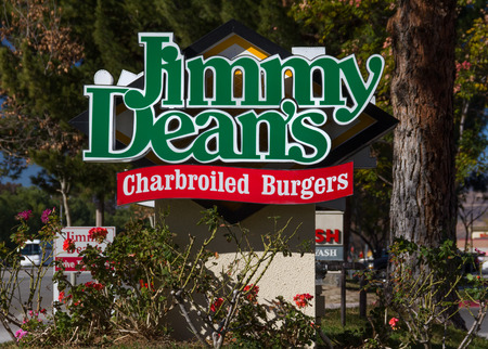 charbroiled: VALENCIA CAUSA - DECEMBER 26, 2015: Jimmy Deans Charbroiled Burgers exterior and logo. Jimmy Deans is a chain of restaurants. Editorial