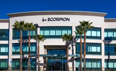 VALENCIA CA/USA - DECEMBER 26, 2015: Scorpion headquarters building and exterior. Scorpion designs web sites for businesses.