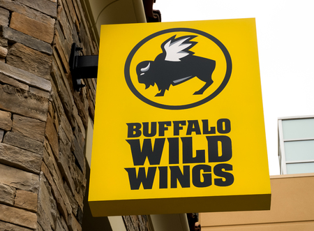 SIMI VALLEY, CAUSA - JANUARY 23, 2016:  Buffalo Wild Wings restaurant. Buffalo Wild Wings Grill & Bar is a casual dining restaurant and sports bar franchise in the United States. Editorial