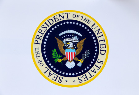 democracia: Sello presidencial de los Estados Unidos de Am�rica Foto de archivo
