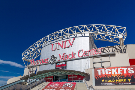 mack: LAS VEGAS, NVUSA - FEBRUARY 13, 2016: Thomas & Mack Center on Campus of University of Nevada, Las Vegas. Thomas & Mack Center is a basketball arena. Editorial