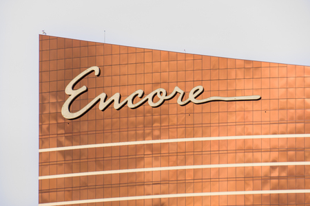 steve: LAS VEGAS, NVUSA - FEBRUARY 14, 2016: Encore at Wynn Las Vegas luxury resort and casino located on the Las Vegas Strip. The Encore is named after casino developer Steve Wynn and is the flagship property of Wynn Resorts Limited.