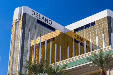 delano: LAS VEGAS, NVUSA - FEBRUARY 15, 2016: Delano Las Vegas Hotel and Casino. The Delano Las Vegas is on the Las Vegas Strip and is owned and operated by MGM Resorts International.