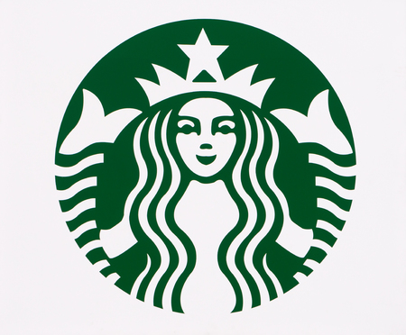 LONG BEACH, CAUSA - MARCH 19, 2016: Starbucks exterior logo. Starbucks is a chain of coffee shops in the United States and other nations.