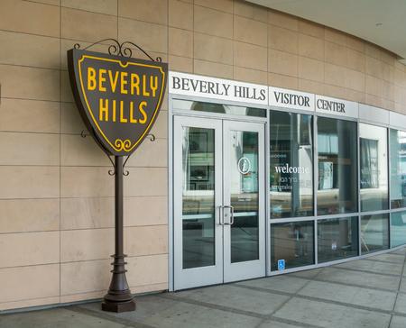 adjacent: BEVERLY HILLS, CAUSA - APRIL 10, 2016: Beverly Hills Visitor Center adjacent to  Rodeo Drive.