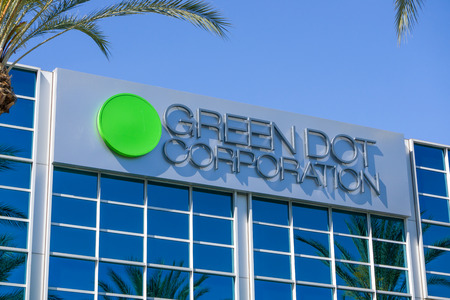 issuer: PASADENA, CAUSA - APRIL 16, 2016: Green Dot Corporation corporate headquarters. Green Dot Corporation is an issuer of prepaid MasterCard and Visa cards in the United States. Editorial