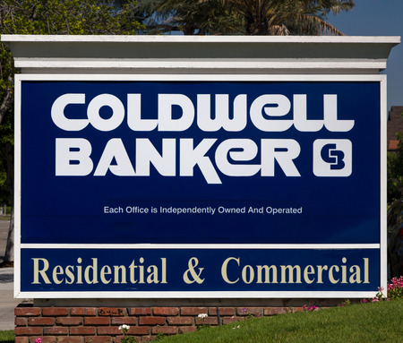 american banker: ARCADIA, CAUSA - APRIL 16, 2016: Coldwell Banker real estate office sign and logo. Coldwell Banker Real Estate LLC is an American real estate franchise. Editorial