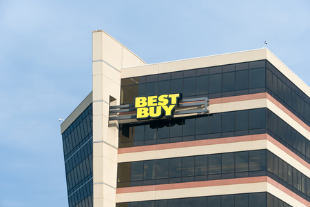 consumer electronics: RICHFIELD, MNUSA - MAY 30, 2016:  Best Buy corporate headquarters building. Best Buy is an American multinational consumer electronics corporation.