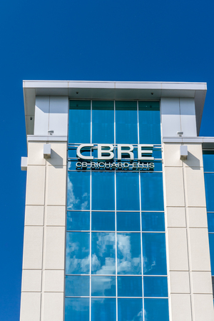 commercial real estate: BLOOMINGTON, MNUSA - MAY 29, 2016: CBRE real estate offices. CBRE Group, Inc. is a Fortune 500 American commercial real estate company. Editorial
