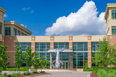 headquartered: EDEN PRAIRIE, MNUSA - MAY 29, 2016: Lifetouch Portrait Studios headquarters sign. Lifetouch Inc. is an employee-owned photography company headquartered in Eden Prairie, Minnesota.