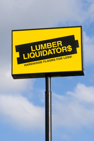 retailer: MOORE, OKUSA - MAY 20, 2016:  Lumber Liquidators store exterior. Lumber Liquidators is an American retailer of hardwood flooring.