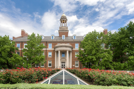 methodist: DALLAS, TXUSA - MAY 21, 2016: Joseph Wylie Fincher Building at Southern Methodist University. SMU is a private research university in Dallas, University Park, and Highland Park, Texas.