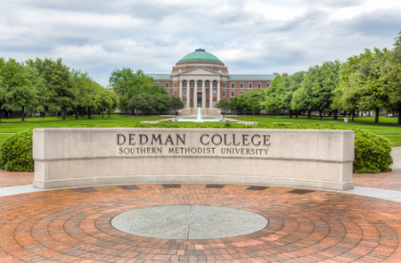 methodist: DALLAS, TXUSA - MAY 21, 2016: Dedman College of Humanities and Sciences at Southern Methodist University. SMU is a private research university in Texas. Editorial