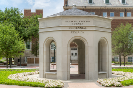 methodist: DALLAS, TXUSA - MAY 21, 2016: Gail O. and Gerald Turner Centennial Pavilion atSouthern Methodist University. SMU is a private research university in Texas.