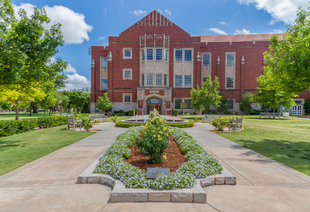 NORMAN, OKUSA - MAY 20, 2016: Bruzzy Westheimer Plaza the campus of the University of Oklahoma. Editorial