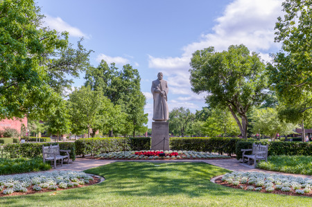 bennett: NORMAN, OKUSA - MAY 20, 2016: GWilliam Bennett Bizzell Sculpture at the University of Oklahoma.