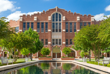 NORMAN, OKUSA - MAY 20, 2016:  McCasland Field House on the campus of the University of Oklahoma.