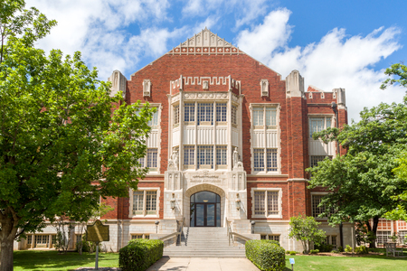 NORMAN, OKUSA - MAY 20, 2016: Price College of Business on the campus of the University of Oklahoma.The University of Oklahoma (OU) is a coeducational public research university.