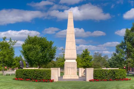 NORMAN, OKUSA - MAY 20, 2016:   University of Oklahoma Veterans Memorial the campus of the University of Oklahoma.