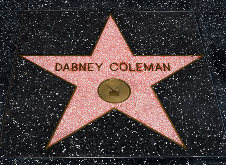 famous industries: HOLLYWOOD, CAUSA - JULY 9, 2016:  Dabney Coleman star on the Hollywood walk of fame. Editorial