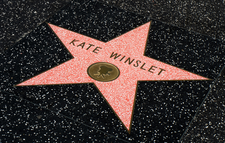 HOLLYWOOD, CAUSA - JULY 9, 2016:  Kate Winslet star on the Hollywood walk of fame.