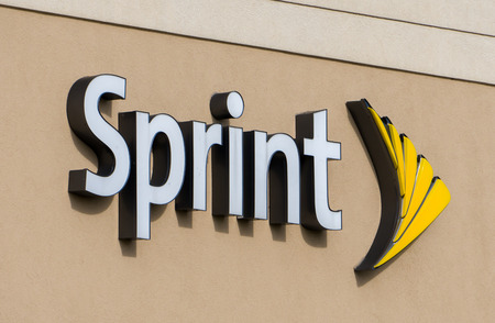 HUDSON, WI/USA - OCTOBER 21, 2016: Sprint store exterior and logo. Sprint is a United States telecommunications holding company tproviding wireless and Internet services.