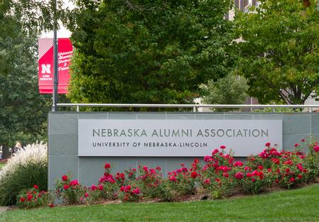 nebraska: LINCOLN, NEUSA - OCTOBER 2, 2016: Nebraska Alumni Association on the campus of the University of Nebraska. Editorial