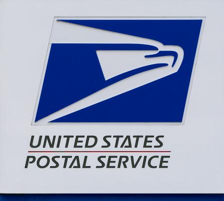 STILLWATER, MN/USA - NOVEMBER 20, 2016: United States Postal Service sign and logo.