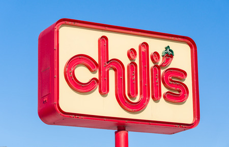 chili's restaurant: MINNEAPOLIS, MNUSA - JANUARY 14, 2017: Chilis restaurant exterior sign. Chilis Grill & Bar is an American casual dining restaurant chain that features Tex-Mex-style cuisine.