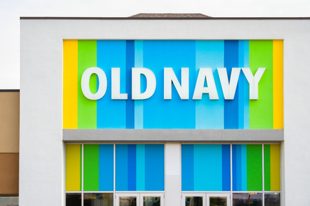 MINNEAPOLIS, MNUSA - MARCH 19, 2017: Old Navy store exterior and logo Old Navy is a clothing and accessories retailer owned by American multinational corporation Gap Inc.