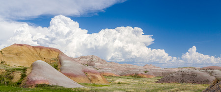 geological formation: Panoramic View of Badlands National Park in southwestern South Dakota, USA.