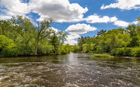 Apple River in Amery, Wisconsin, USA.