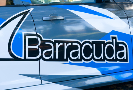 LOS GATOS, CAUSA - JULY 29, 2017: Barracuda Networks headquarters and logo. Barracuda Networks, Inc. is a company providing security, networking and storage products. Editorial