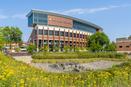 MINNEAPOLIS, MN  USA - 10 SEPTEMBER 2017: TCF-bankstadion op de campus van de universiteit van Minnesota. Redactioneel