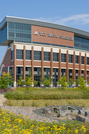 MINNEAPOLIS, MNUSA - SEPTEMBER 10, 2017: TCF Bank Stadium on the campus of the University of Minnesota.