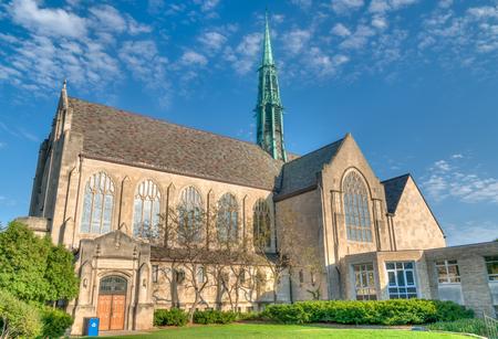 ST. PAUL, MNUSA - SEPTEMBER 22, 2017: Hamline United Methodist Church on the campus of Hamline University. Editorial