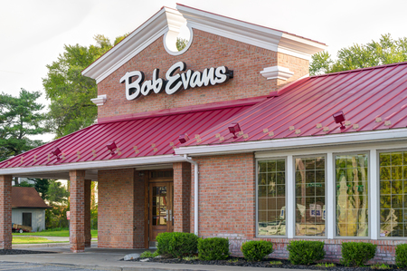 SOUTH BEND, INUSA - OCTOBER 19, 2017: Bob Evants Resturaunt exterior sign and logo. Bob Evens Restaurants is a chain of casual dining resturaunts in the United States.