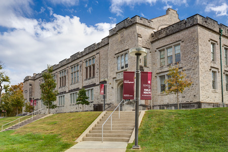 BLOOMINGTON, INUSA - OCTOBER 22, 2017: School of Public Health on the campus of the University of Indiana. Editorial