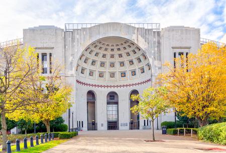COLUMBUS, OH/USA - OCTOBER 21, 2017: Rotunda entrance to Ohio Stadium on the campus of  The Ohio State University.